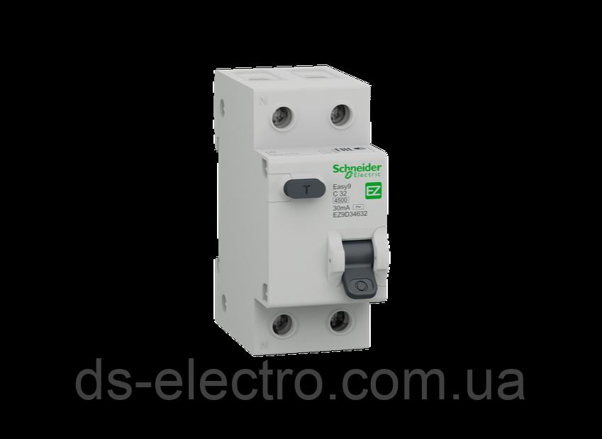 Выключатель дифференциального тока Schneider Electric EZ9/2 полюса(тип АС) 63A/30mA