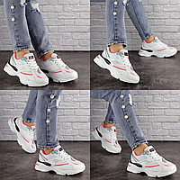 Женские белые кроссовки Caruso 1611 сетка эко-кожа  Размер 36 - 23 см по стельке, обувь женская