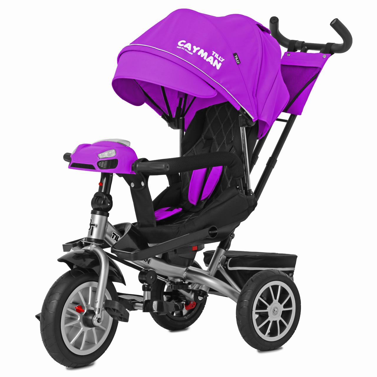 Детский трёхколёсный велосипед Cayman, «Tilly» (T-381/3), цвет Purple (фиолетовый)