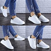 Женские белые кроссовки Duncan 1731 Эко-кожа  Размер 36 - 23 см по стельке, обувь женская