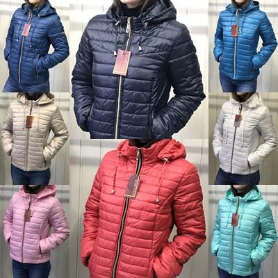 Жіноча демісезонна куртка з плащової тканини на весну і осінь, р-ри 44-54, багато кольорів.