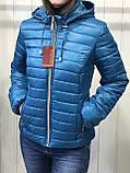 Жіноча демісезонна куртка з плащової тканини на весну і осінь, р-ри 44-54, багато кольорів., фото 7