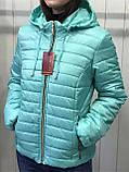 Жіноча демісезонна куртка з плащової тканини на весну і осінь, р-ри 44-54, багато кольорів., фото 8
