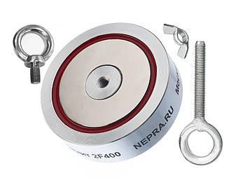 Поисковый магнит Непра 2F400 кг Двухсторонний неодимовый, мощный, для поиска металла в воде, кладов, фото 2