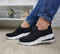 Кроссовки текстильные черные, фото 1