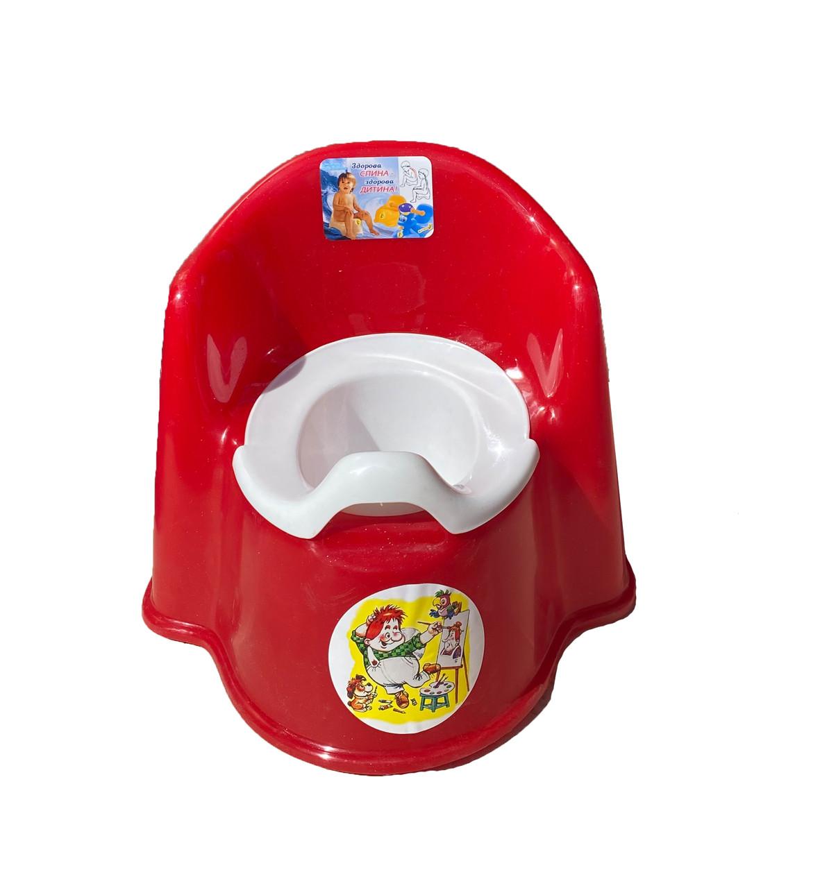 Горшок детский кресло с высокой спинкой, КРАСНЫЙ От