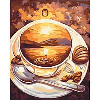 """Картина по номерам. Натюрморт, кофе """"Рассвет"""" 40х50см БЕСПЛАТНАЯ ДОСТАВКА"""