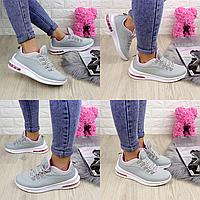 Женские летние кроссовки серые Kato 1215 Сетка  Размер 40 - 25,5 по стельке, обувь женская