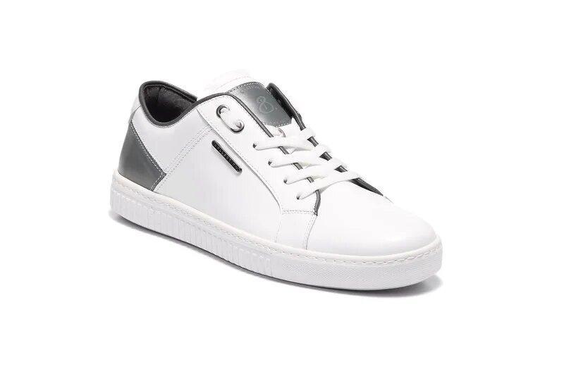 Кросовки мужские кожаные  кеды Big Bang White р 42 44