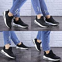Женские летние черные кроссовки Ashton 1700 Сетка  Размер 36 - 23,5 см по стельке, обувь женская