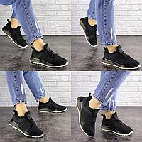 Женские летние черные кроссовки Meeko 1670 Сетка  Размер 36 - 23,5 см по стельке, обувь женская
