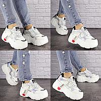 Женские стильные белые кроссовки Sabella 1390 Эко-кожа  Размер 36 - 23 см по стельке, обувь женская