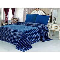 Покрывало Норка Травка двухстороннее Синее покрывало на кровать