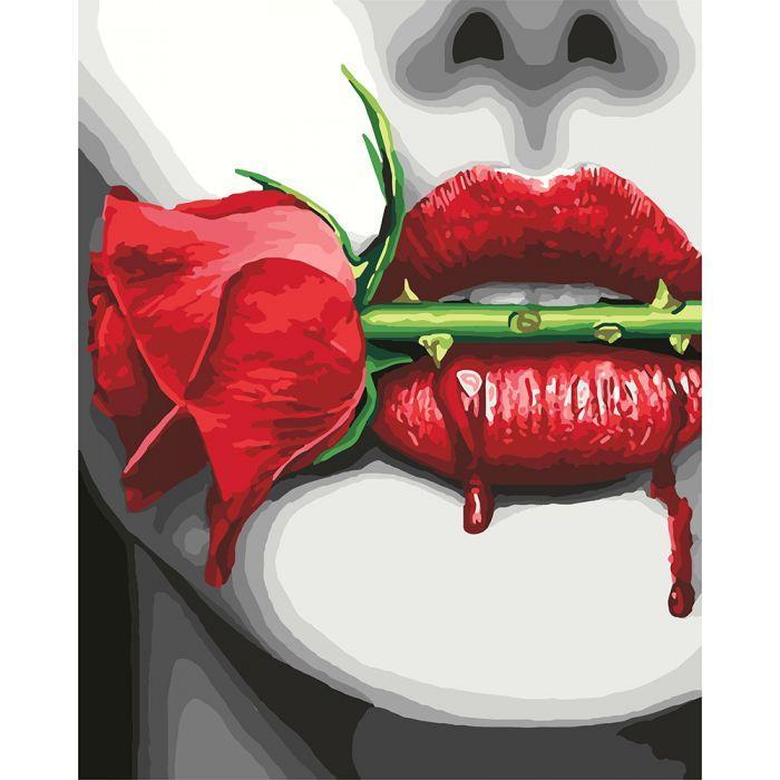 Картина по номерам Опасная страсть  40*50 КОРОБКА  арт. КН4692