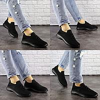 Женские черные кроссовки Stella 1503 Сетка  Размер 36 - 23 см по стельке, обувь женская