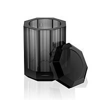 Чорна кришталева баночка настільна Decor Walther Crystal BLACK 931494