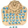 Деревянные буквы для обучения «Азбука» синие (русский язык) Master02