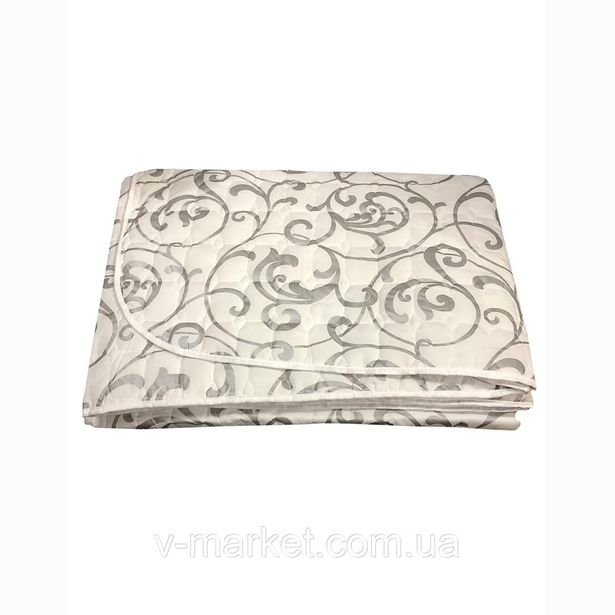 Летнее одеяло покрывало двуспальное, 175/205, бамбук, ткань фибра