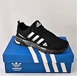 Кроссовки Adidas Fast Marathon Черные Мужские Адидас (размеры: 41,44,45,46) Видео Обзор, фото 2