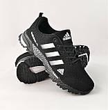 Кроссовки Adidas Fast Marathon Черные Мужские Адидас (размеры: 41,44,45,46) Видео Обзор, фото 3