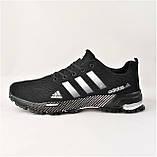 Кроссовки Adidas Fast Marathon Черные Мужские Адидас (размеры: 41,44,45,46) Видео Обзор, фото 6