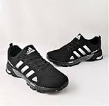 Кроссовки Adidas Fast Marathon Черные Мужские Адидас (размеры: 41,44,45,46) Видео Обзор, фото 9