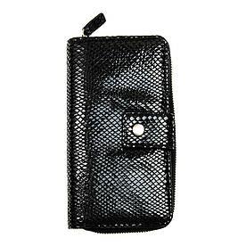 Кожаный женский кошелек-клатч Locker RFID защитой Purse4 Snake Черный (hub_SVyZ48193)