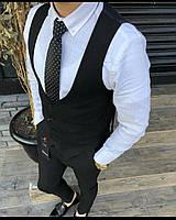 Черный мужской костюм smm