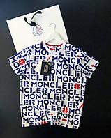 Мужская белая футболка Moncler
