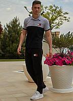 Черно-серый мужской спортивный костюм