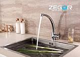 Смеситель для кухни ZEGOR SOP-4B, фото 4