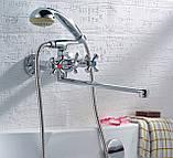 Смеситель для ванны ZEGOR DFR-7 B, фото 4