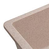 Мойка для кухни из камня Solid Vega Розовый, фото 4