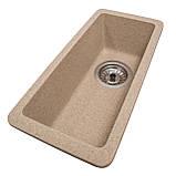 Мойка для кухни из камня Solid Vega plus (дополнительное крыло) Песок, фото 2