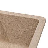 Мойка для кухни из камня Solid Vega plus (дополнительное крыло) Песок, фото 3