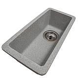 Мойка для кухни из камня Solid Vega plus (дополнительное крыло) Серый, фото 2