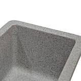 Мойка для кухни из камня Solid Vega plus (дополнительное крыло) Серый, фото 4