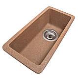 Мойка для кухни из камня Solid Vega plus (дополнительное крыло) Терракот, фото 2