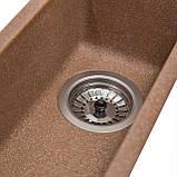 Мойка для кухни из камня Solid Vega plus (дополнительное крыло) Терракот, фото 3