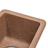 Мойка для кухни из камня Solid Vega plus (дополнительное крыло) Терракот, фото 4
