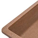 Мойка для кухни из камня Solid Vega plus (дополнительное крыло) Терракот, фото 5