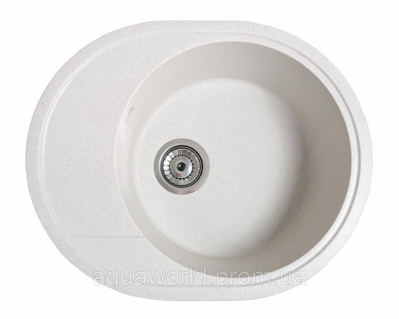 Мойка для кухни из камня Solid Comfy Белый