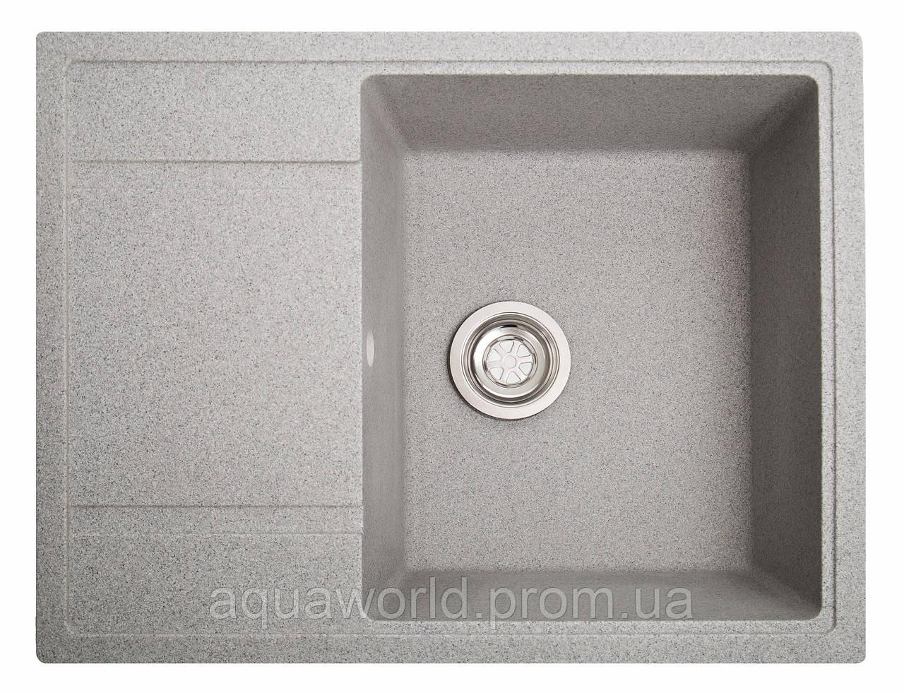 Мойка для кухни из камня Solid Optima Серый