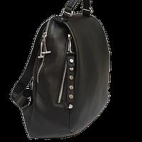 Городской рюкзак из натуральной кожи Polina & Eiterou черный