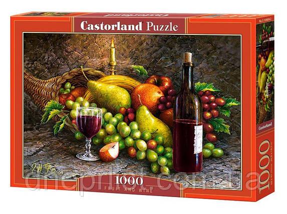"""Пазл 1000 эл. """"Castorland"""" (Польша) / Фрукты и вино, фото 2"""