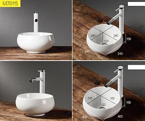 Накладная раковина для ванной. Круглая. Разные размеры. Модель RD-440