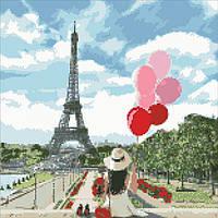 """Алмазная вышивка. Париж """"Мечты на будущее"""" 40*40см (алмазная мозаика) Бесплатная Доставка"""