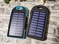 Портативная зарядка Power Bank 3000 mAh с солнечной батареей (решётка, резиновый) Внешний аккумулятор Павер