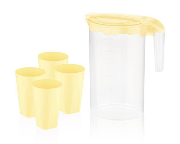 Набір для напоїв BAGER 5 предметів Жовтий (BG-424Y)