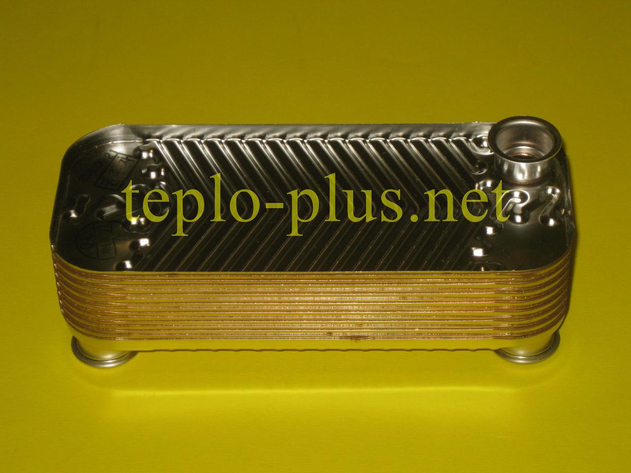 Теплообменник горячей воды (вторичный) 16 Fin Daewoo Gasboiler DGB-250, 300 ICH/KFC